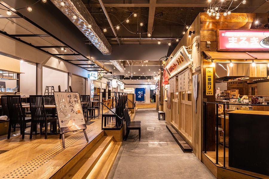 横浜駅東口にできるアソビル1F「横浜駅東口POST STREET」写真