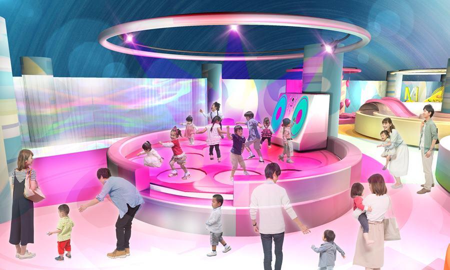 2019年5月1日に開業するアソビル4FのキッズパークPuchu(プチュウ):No.1 DANCE STAR(ダンススター)