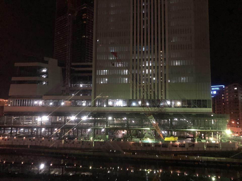 建設中の横浜新市庁舎風景