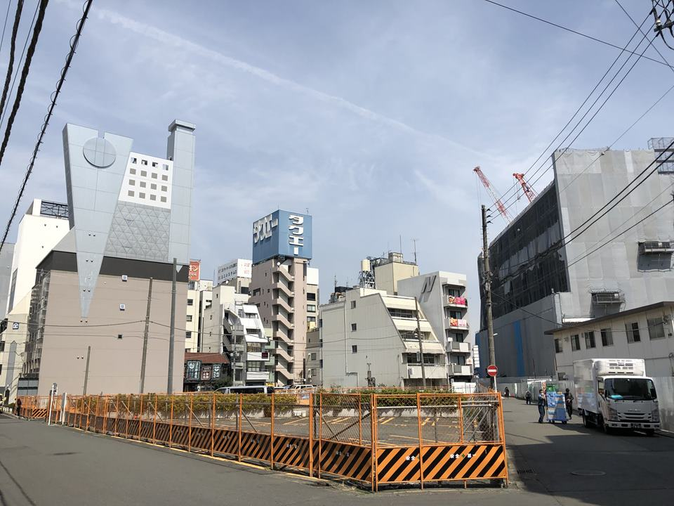 横浜駅きた西口鶴屋地区第一種市街地再開発事業の建設現場