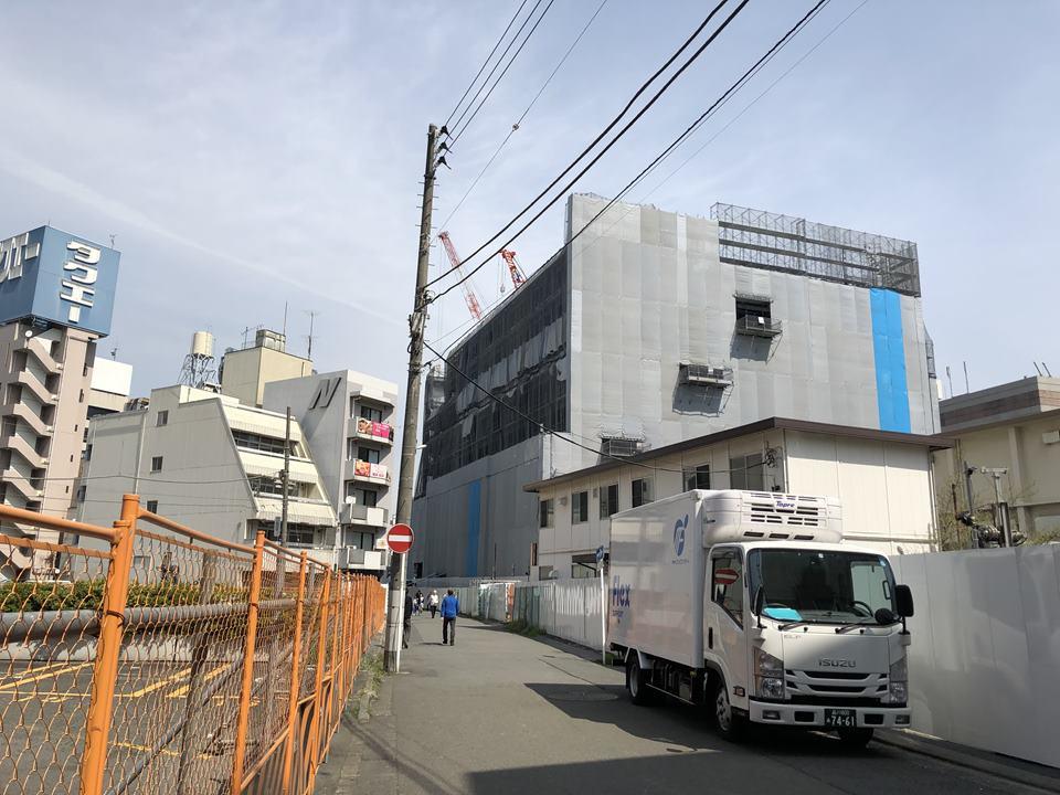 横浜駅西口鶴屋町棟の建築現場写真