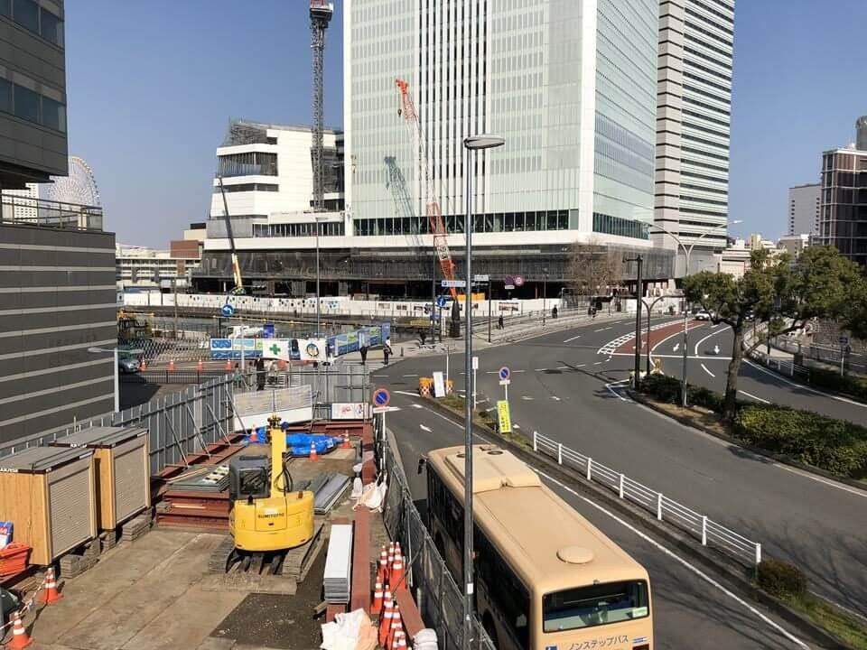 人道橋の建設工事写真