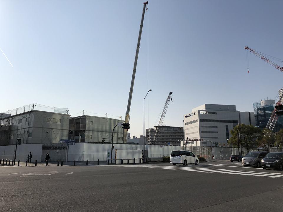 みなとみらいに建設中の村田製作所「みなとみらいイノベーションセンター」風景