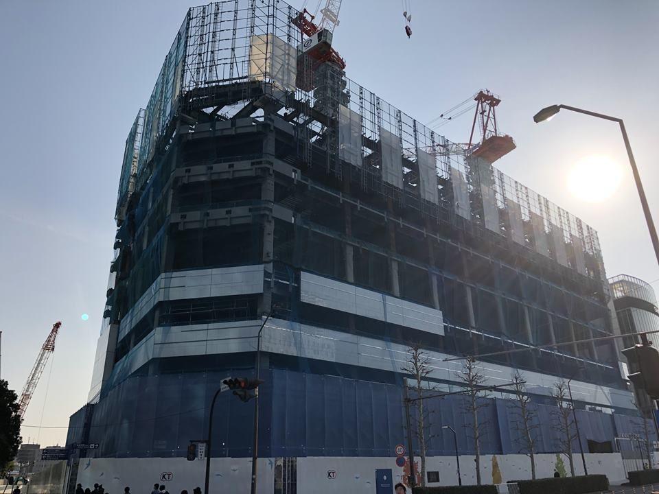 MM21地区 47街区開発計画の建設工事写真