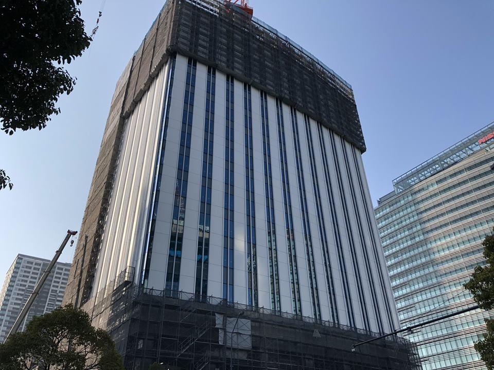 京急グループ本社ビルの建設途中写真