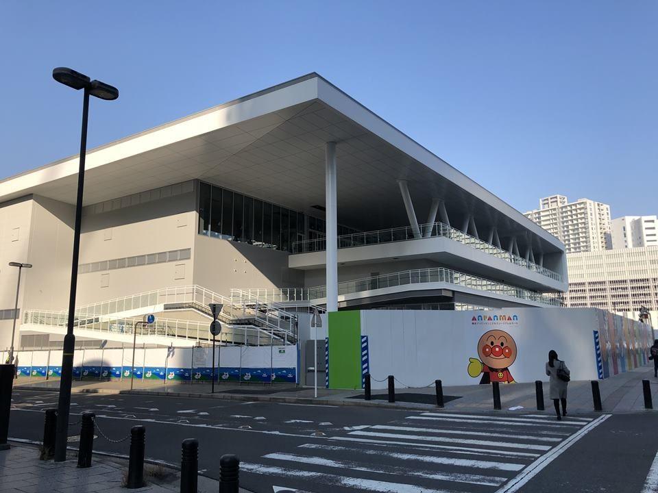 建設工事途中の横浜アンパンマンこどもミュージアム