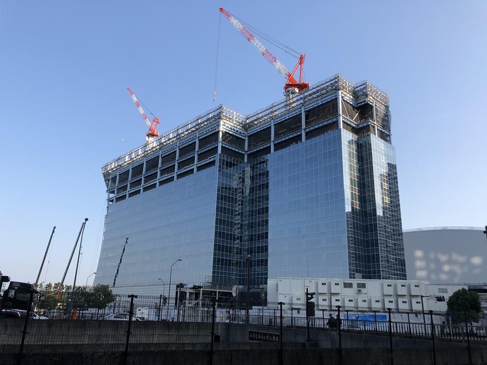 横浜ベイコート倶楽部 ホテル&スパリゾート、ザ・カハラ・ホテル&リゾート 横浜建設途中の写真