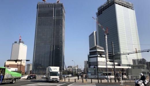 [2019年3月]横浜北仲3兄弟の工事具合。人道橋はノートルダムまで?