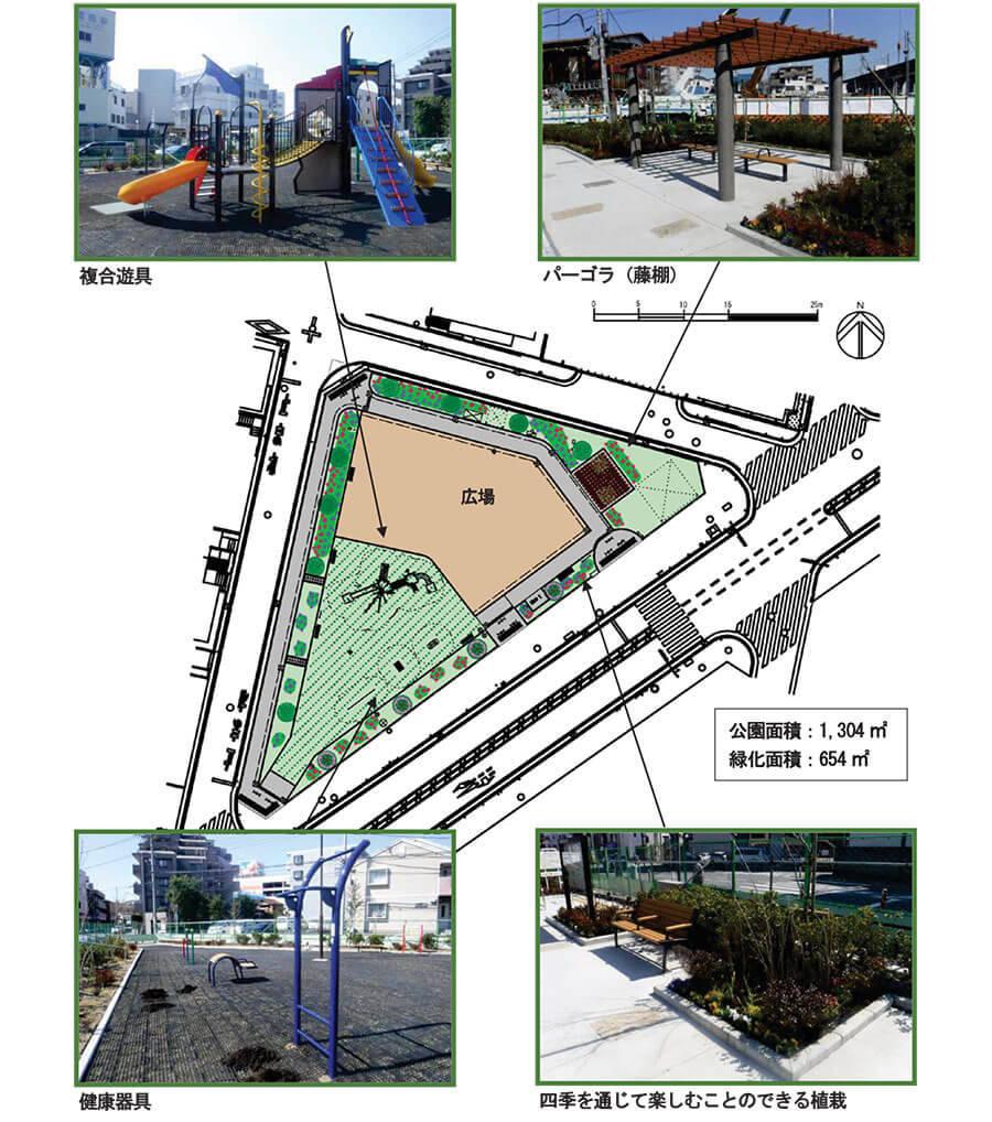 港南区と南区の境にできた最戸一丁目公園写真