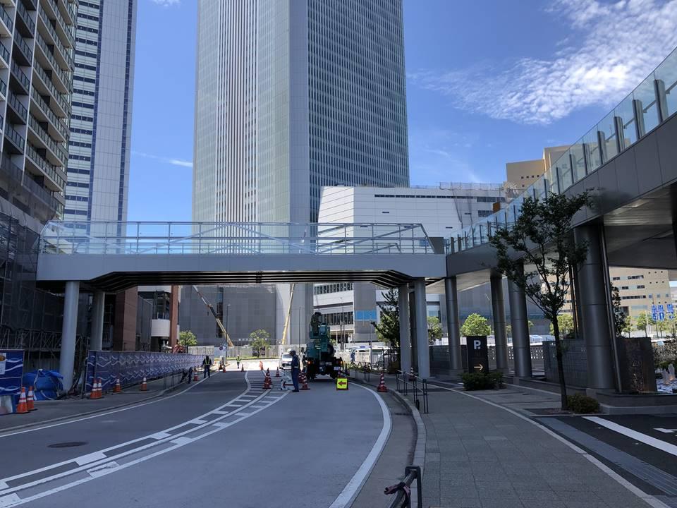 建設中の横浜北仲タワー