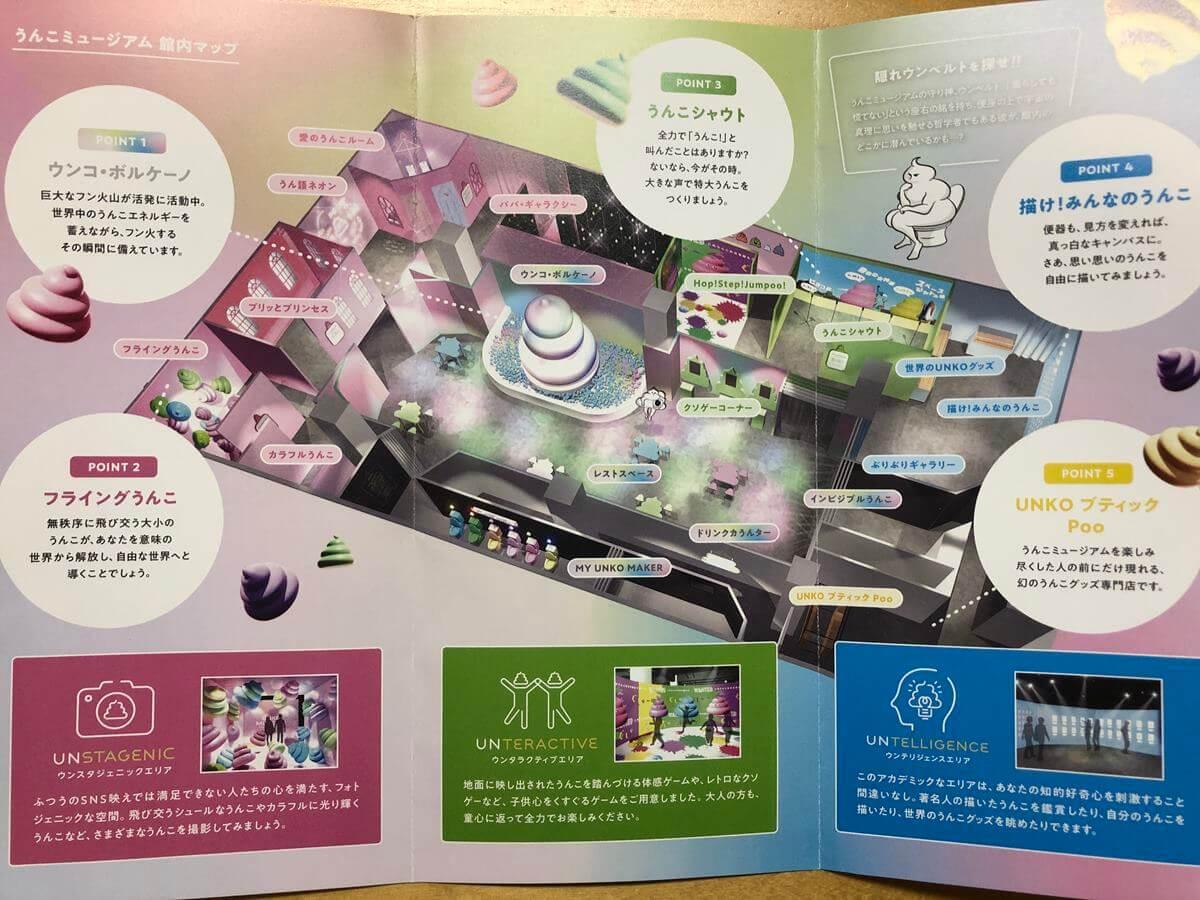 アソビル2Fのうんこミュージアムパンフレット