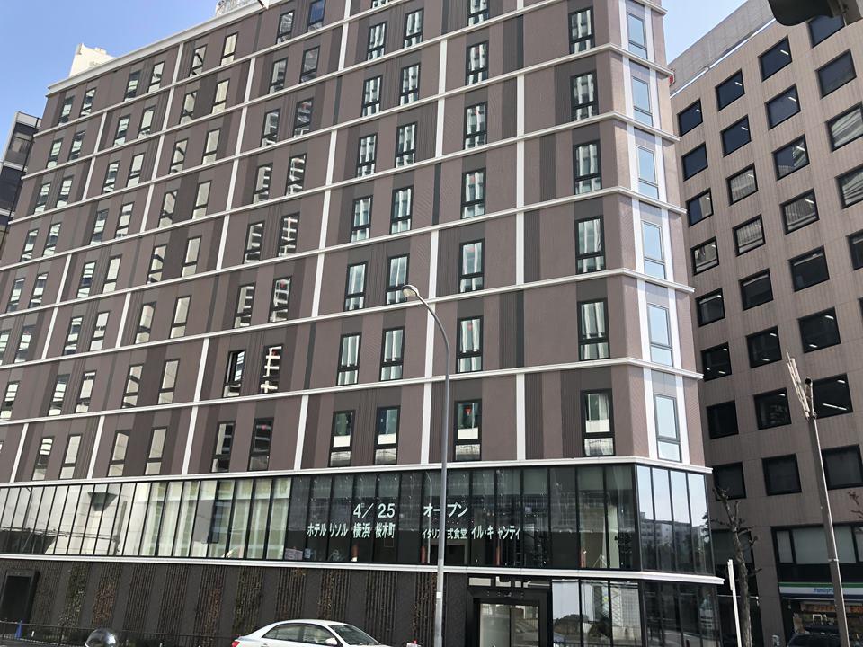 2019年4月に完成を控えるホテルリソルの外観写真