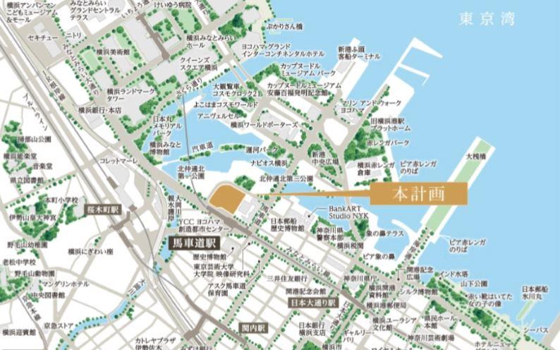 「ザ・タワー横浜北仲」現地案内図