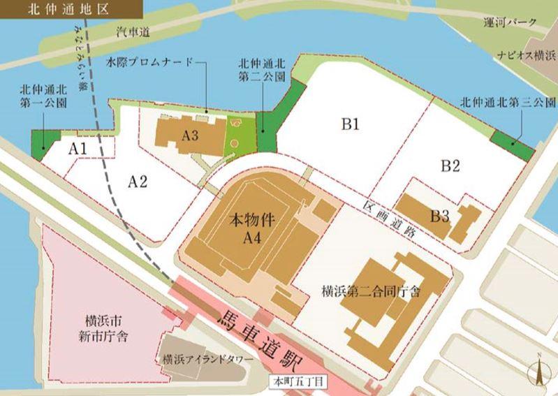 (仮称)馬車道駅直結 横浜北仲タワープロジェクト建設地