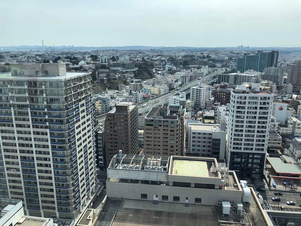 横浜マリンタワーから見える横浜中華街方面(2019年3月)