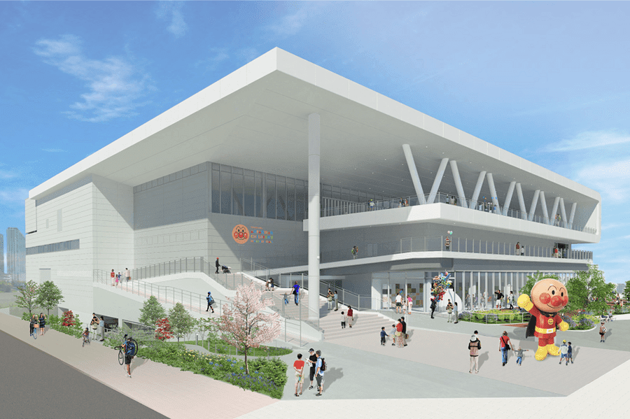 新施設「横浜アンパンマンこどもミュージアム」の外観イメージ