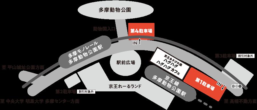 京王あそびの森HUGHUG駐車場