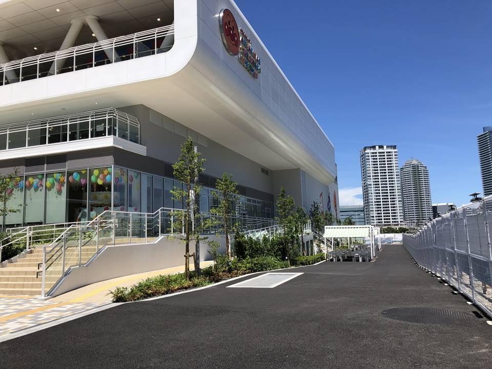 横浜アンパンマンこどもミュージアムの駐輪場写真