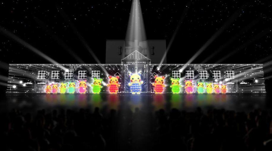 LEDの最新技術を駆使した、ピカチュウたちのチームパフォーマンス