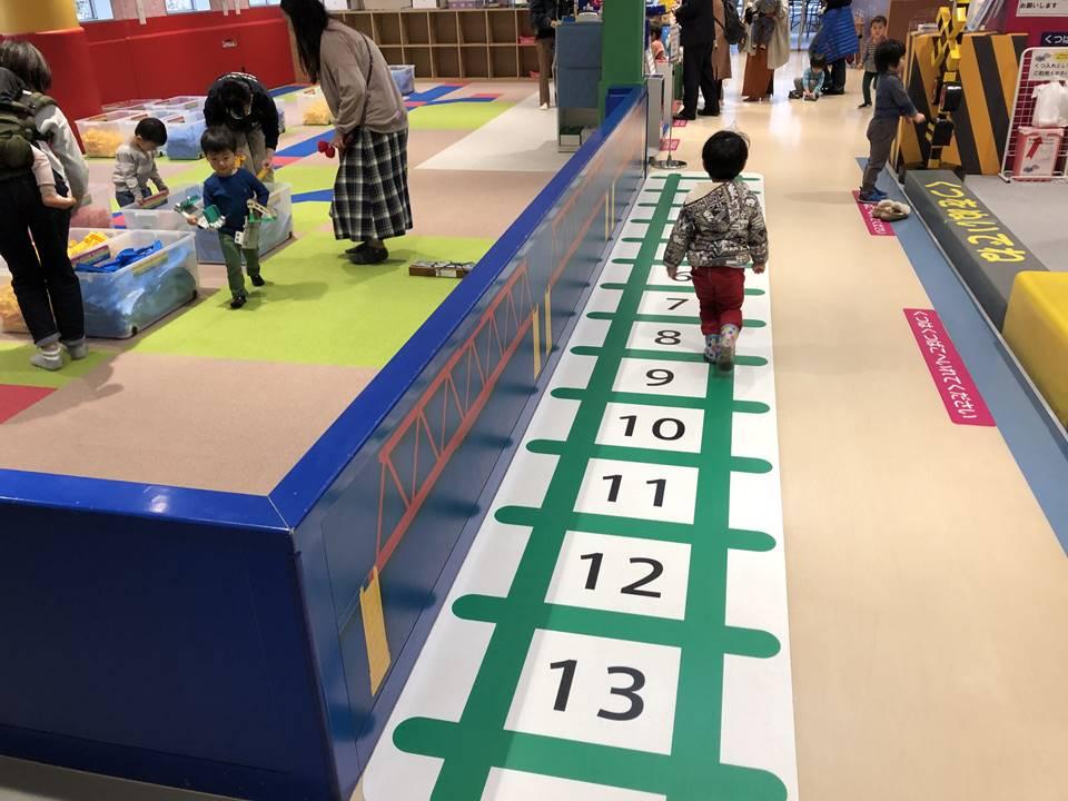 京王れーるランド2F:プラレールで遊ぼうの整理券配布場所