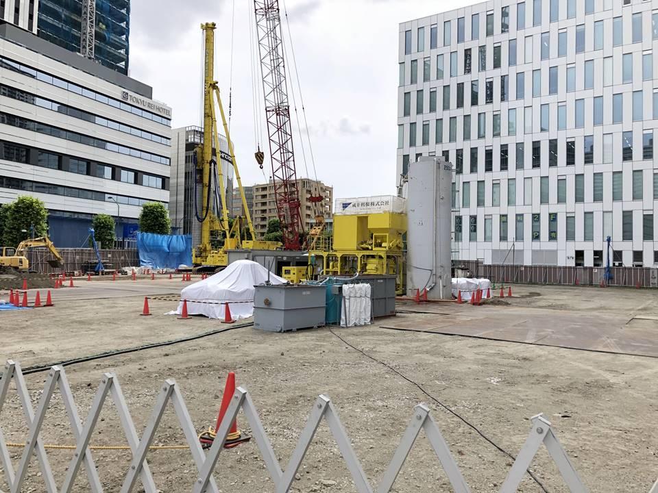 みなとみらい56-1街区にできるLG グローバルR&Dセンターの建設工事写真