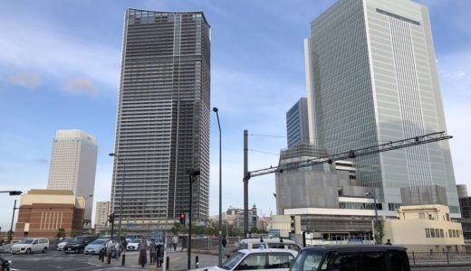 [2019年6月]横浜北仲3兄弟の工事具合。アパホテルがAPAロゴ設置で臨戦態勢に