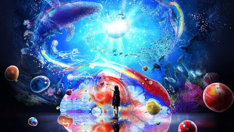横浜駅直通アソビルで開催される「OCEAN BY NAKED(オーシャン バイ ネイキッド) 光の深海展」のイメージ画像