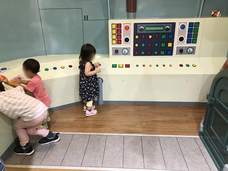 横浜アンパンマンこどもミュージアムのアンパンマンごうの内部写真