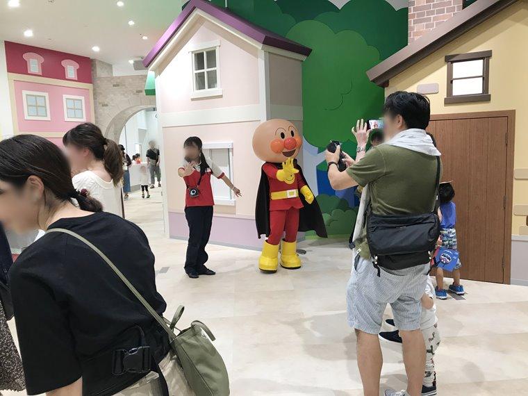 横浜アンパンマンこどもミュージアムのキャラクター写真