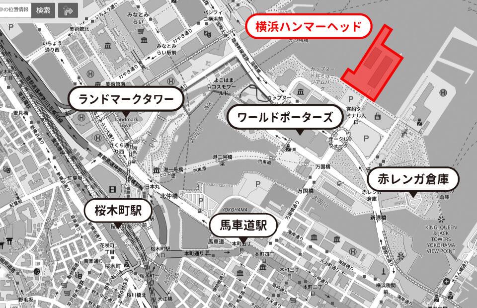 横浜ハンマーヘッドのイメージマップ