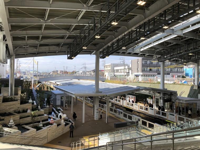 東急田園都市線南町田グランベリーパーク駅のホーム写真