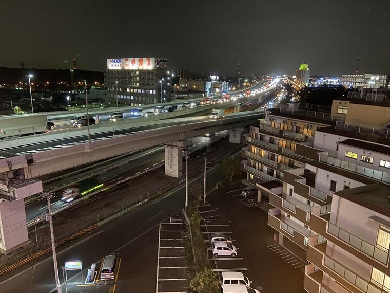 万葉の湯町田館から見た国道16号線の写真