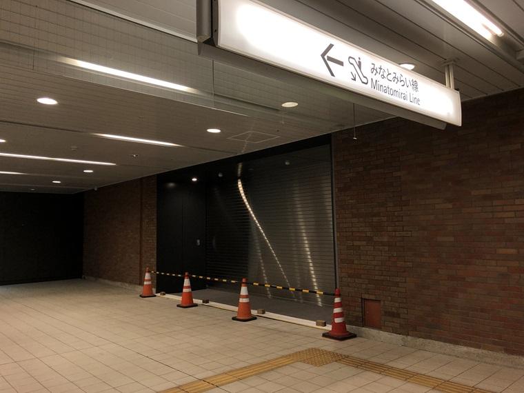 みなとみらい線馬車道駅の横浜北仲ノットへの出口