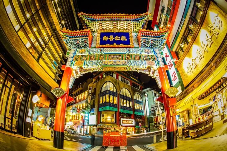 横浜中華街の街の様子写真