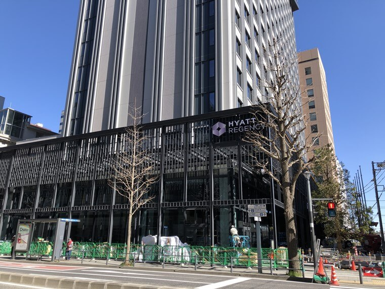 ハイアットリージェンシー横浜の建設工事写真(2020年3月撮影)