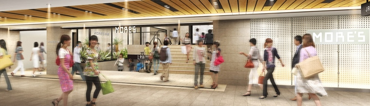 「JR横浜タワー」地下出入口と「横浜モアーズ」地下入口が接続
