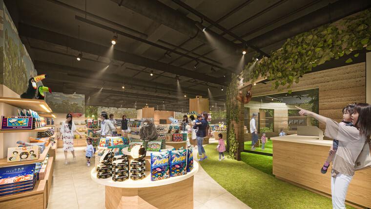川崎駅前商業施設「ルフロン川崎」にできるカワスイ水族館のオフィシャルショップイメージ