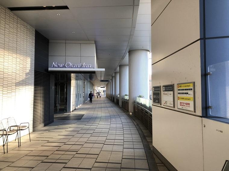 ニューオータニイン横浜プレミアムの外通路
