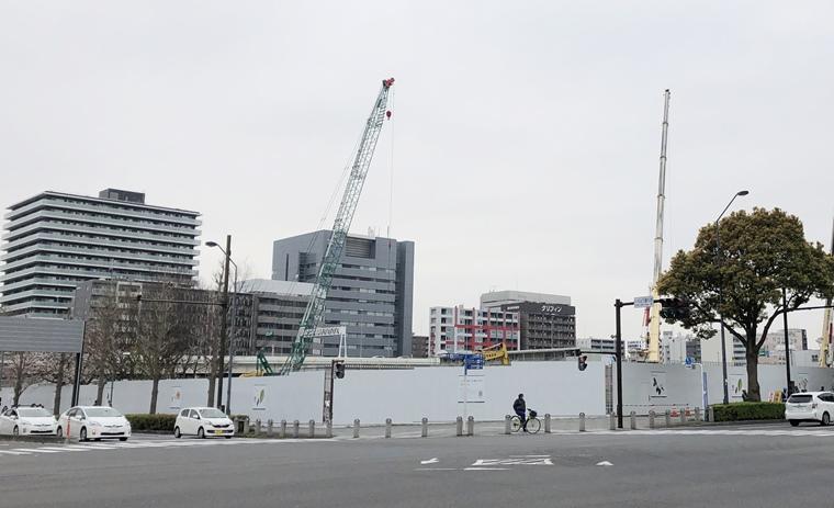 ウェスティンホテル横浜の建設工事風景