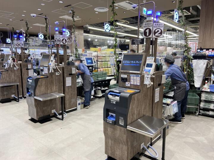 スーパーマーケット「サミットストア桜木町コレットマーレ店」のレジ写真