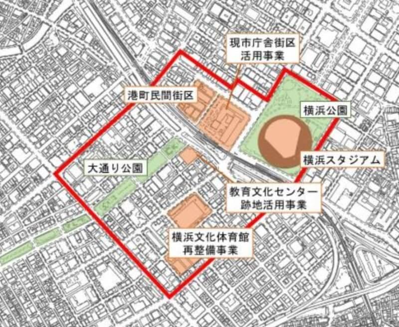 関内駅周辺地区エリアコンセプトプランのイメージ